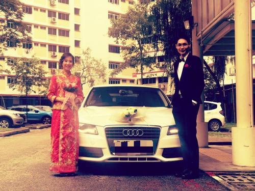 Audi A4 wedding 1