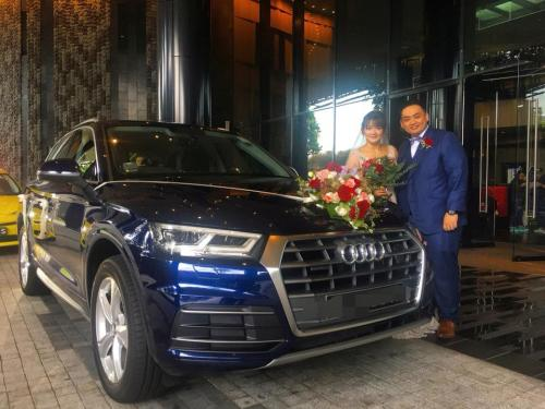 Audi Q5 suv wedding
