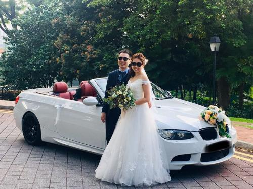 BMW3 convertible wedding