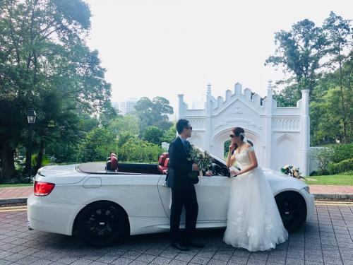 BMW3 convertible wedding 2