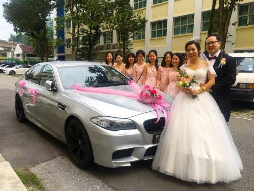 BMW 5f10 wedding