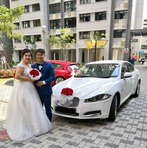 Jaguar XF wedding (2)